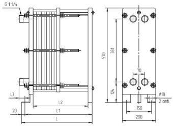 Теплообменник ридан нн 04 Пластинчатый теплообменник Sondex S37 (пищевой теплообменник) Чайковский
