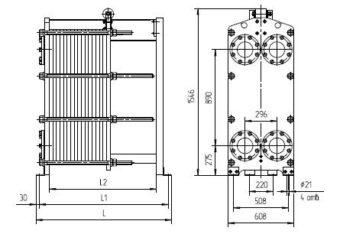Разборный пластинчатый теплообменник Теплотекс 50A Сургут