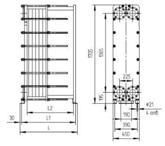Пластины теплообменника Анвитэк AMX 100 Камышин