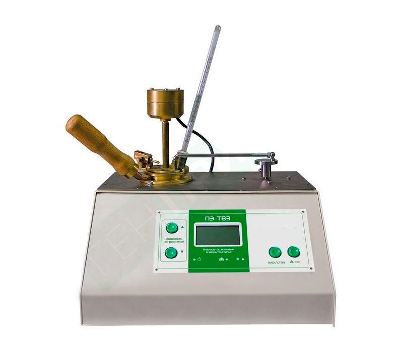Посмотреть фото оборудования ПЭ-ТВЗ , Полуавтоматический анализатор температуры вспышки в закрытом тигле метод Пенски-Мартенса