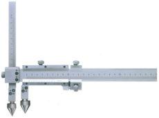 Штангенциркуль отраслевой нониусный с коническими вставками для измерения расстояний между центрами отверстий (ШЦ04).  запросить стоимость
