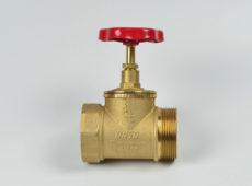 Клапан пожарный латунный КПЛП прямоточный (муфта-цапка) с датчиком положения  запросить стоимость
