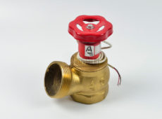 Клапан пожарный латунный КПЛ угловой 125° (цапка-цапка) с датчиком положения  запросить стоимость