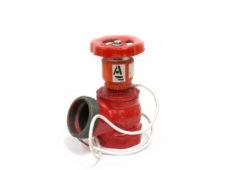 Клапан пожарный чугунный КПЧ угловой 125° (цапка-цапка) с датчиком положения  запросить стоимость