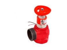 Клапан пожарный чугунный КПЧМ угловой 90° (муфта-цапка) с датчиком положения  запросить стоимость