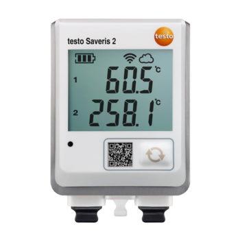 Testo Saveris 2-T3 - WiFi-логгер данных с дисплеем и двумя разъемами для подключения внешних термопар  запросить стоимость