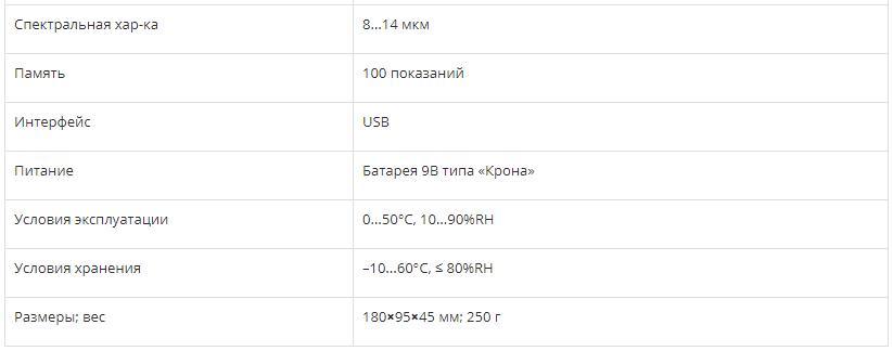 ИНФРАКРАСНЫЙ ТЕРМОМЕТР СЕМ DT-8869H  запросить стоимость